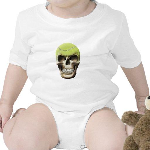Cráneo del tenis camisetas