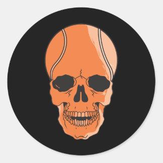 Cráneo del tenis etiquetas redondas