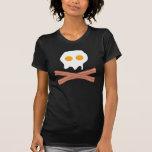 Cráneo del tocino de los huevos camiseta