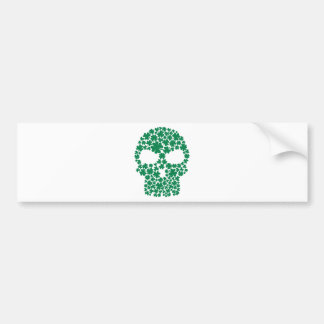 Cráneo del trébol etiqueta de parachoque