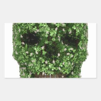 Cráneo del trébol pegatina rectangular