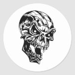 Cráneo del vampiro etiqueta redonda