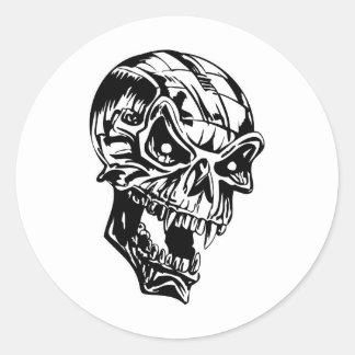 Cráneo del vampiro pegatina redonda