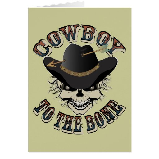 Cráneo del vaquero tarjeta de felicitación