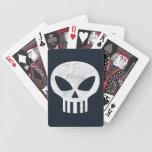 Cráneo del vector apenado cartas de juego