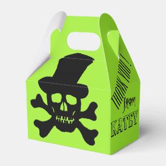 Cráneo del veneno y cajas negros del favor de la caja para regalo de boda