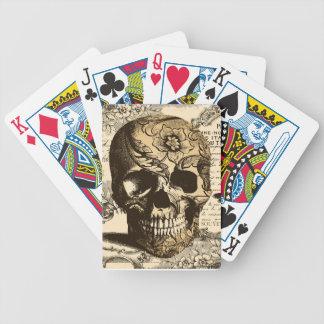 Cráneo del vintage baraja de cartas