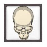 Cráneo del vintage caja de recuerdo de calidad
