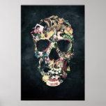 Cráneo del vintage póster