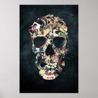 Cráneo del vintage poster