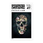 Cráneo del vintage sellos postales