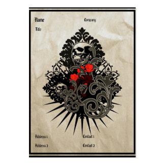 Cráneo del vintage - tarjeta de visita