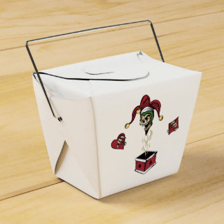 Cráneo del zombi del comodín de la caja del póker cajas para detalles de boda