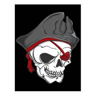 Cráneo del zombi del pirata tarjetas postales
