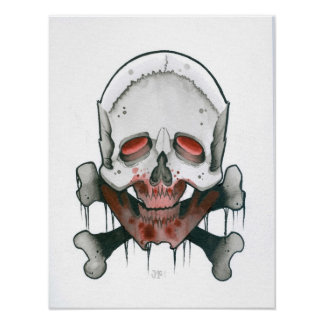 Cráneo del zombi poster