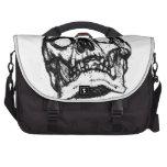Cráneo del zombi que dibuja 2 bolsas para portatil