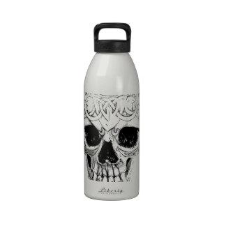 Cráneo demoníaco de Halloween Horror gótico de Di Botellas De Beber