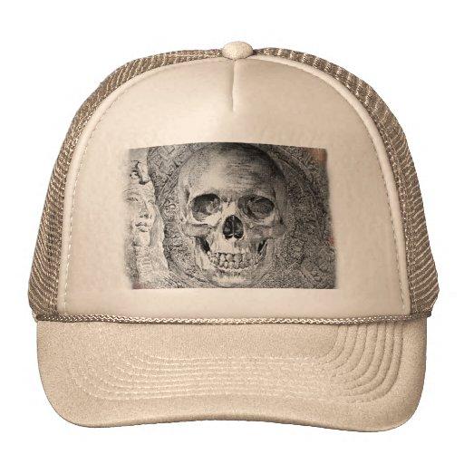 Cráneo desing en el casquillo gorra