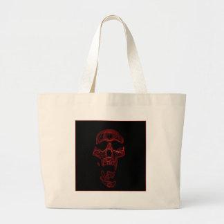 Cráneo divertido chistoso bolsa tela grande