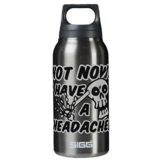 Cráneo divertido del dolor de cabeza botella isotérmica de agua