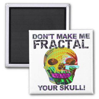 Cráneo divertido del fractal imán cuadrado