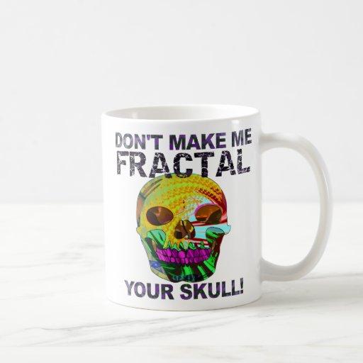 Cráneo divertido del fractal taza