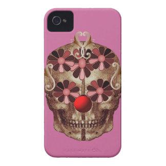 Cráneo divertido iPhone 4 Case-Mate cobertura