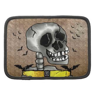 Cráneo divertido sonriente del personalizado con planificador