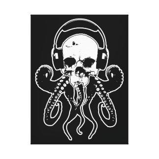 Cráneo DJ del pulpo con arte gótico de los Lona Envuelta Para Galerías