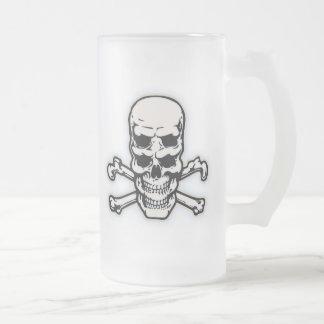 Cráneo doble de Vision Jarra De Cerveza Esmerilada