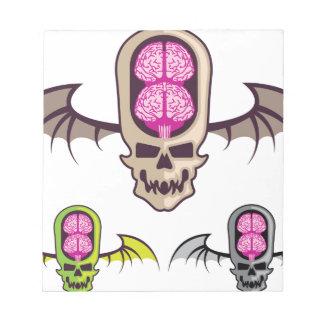 Cráneo doble del cerebro bloc de notas