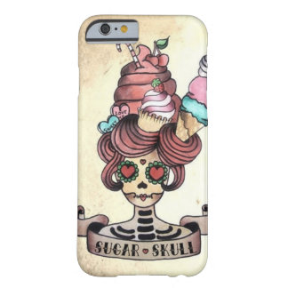 Cráneo dulce azucarado funda barely there iPhone 6