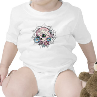 Cráneo dulce del azúcar trajes de bebé