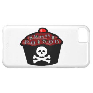 Cráneo dulce y bandera pirata de la magdalena del funda iPhone 5C