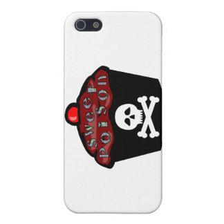 Cráneo dulce y bandera pirata de la magdalena del iPhone 5 carcasa