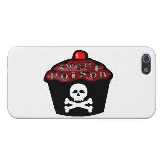 Cráneo dulce y bandera pirata de la magdalena del iPhone 5 fundas