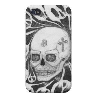 Cráneo e imágenes de las almas iPhone 4/4S funda