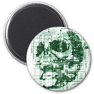 Cráneo eléctrico imán redondo 5 cm