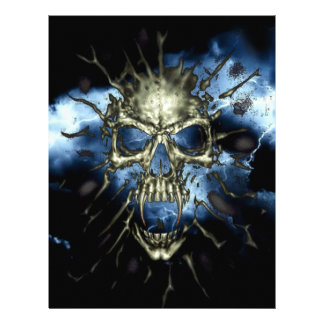 Cráneo eléctrico plantillas de membrete