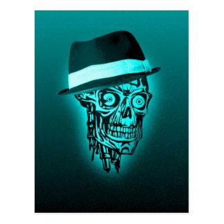 Cráneo elegante con el gorra, menta (c) postales