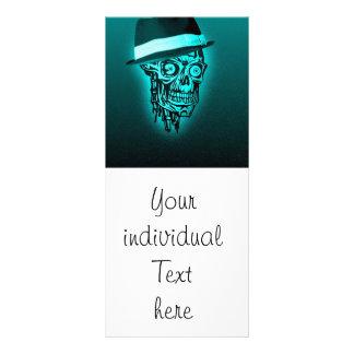 cráneo elegante con el gorra, menta (c) tarjeta publicitaria a todo color