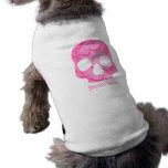 Cráneo elegante del rosa femenino del chica swirly camisetas de perrito