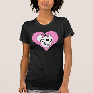 Cráneo EMO del amor Camiseta