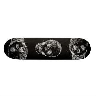 Cráneo, en blanco skate board