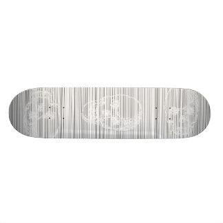 Cráneo, en blanco patinetas personalizadas