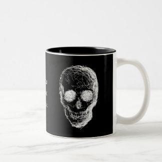 Cráneo, en blanco taza