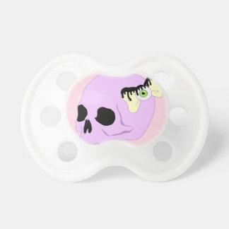 Cráneo en colores pastel chupete de bebe