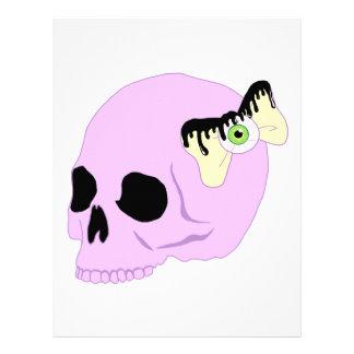 Cráneo en colores pastel plantillas de membrete