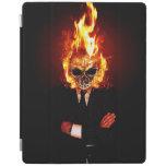 Cráneo en el fuego cubierta de iPad