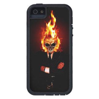 Cráneo en el fuego iPhone 5 cobertura